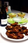 11-12 Homemade Wings w: Celery, Salad & Anglim Wine