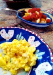 12-10 Scrambled Taragon Eggs & Phruit