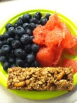 Jan 10- Special K Snack Bar, Blueberries & Grapefruit