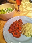 Jan 16- Lentils, Mashed Cauliflower & Salad